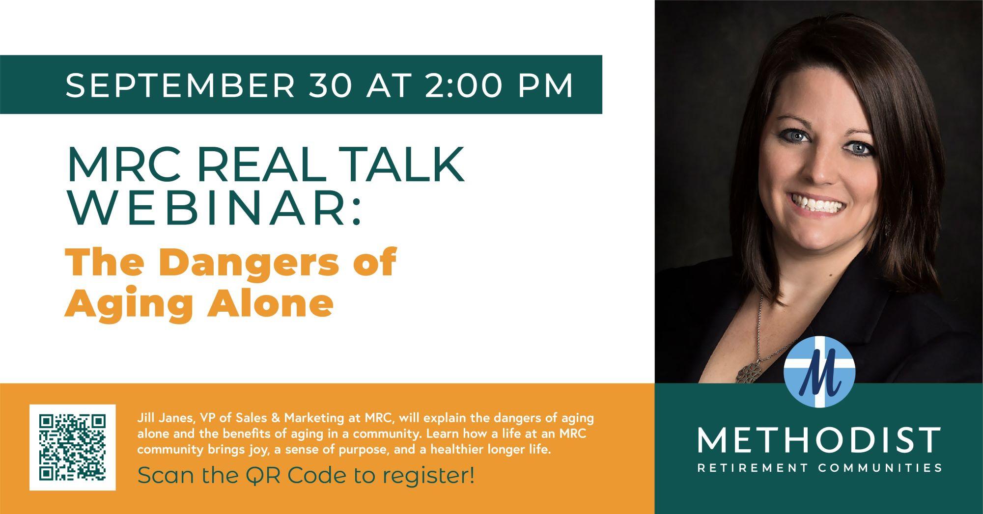 MRC REAL TALK WEBINAR: The Dangers of Aging Alone!