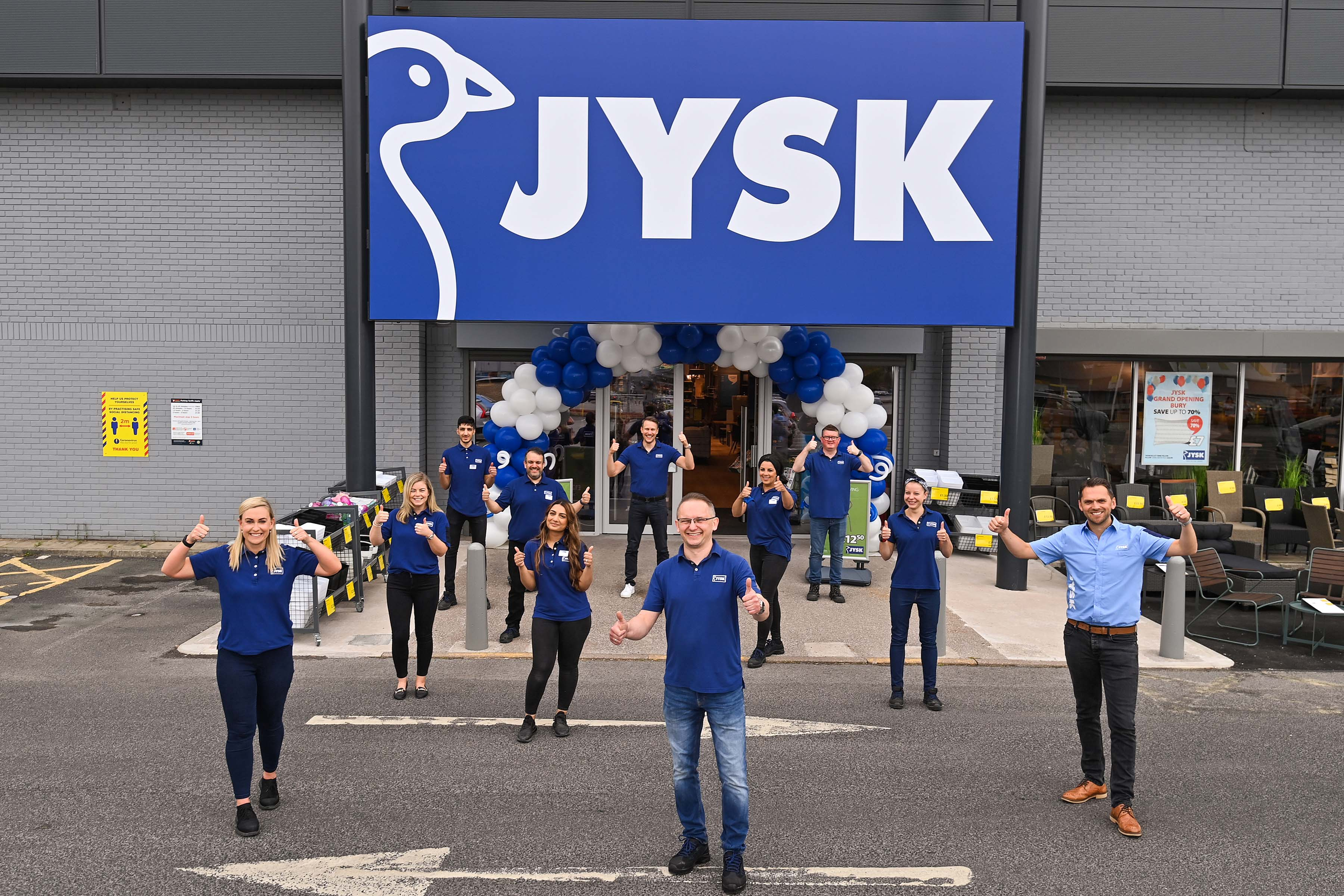 JYSK expands in Greater Manchester and supports local charitable causes