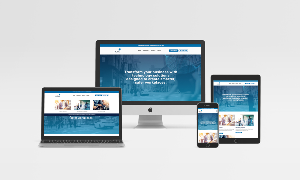 Telco Business Communications Website Design