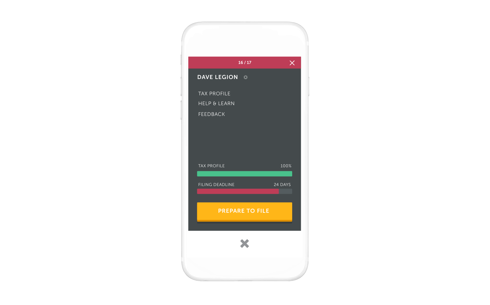 TAXO'D app - Complete your tax profile in 5 minutes