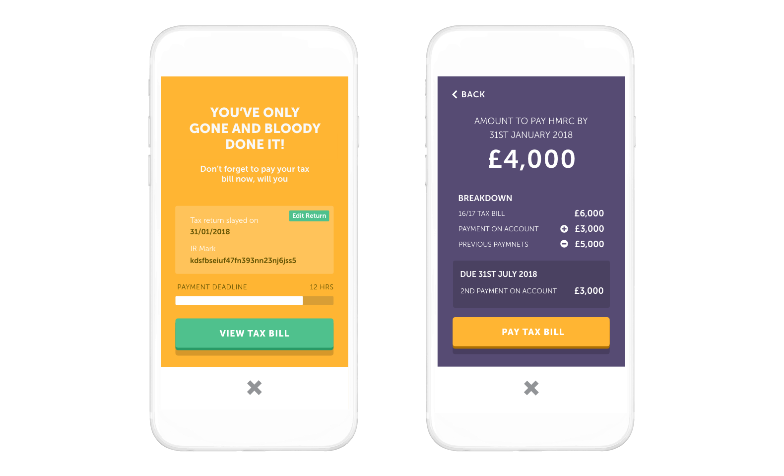 TAXO'D app - HMRC have received your tax return thanks to TAXO'D