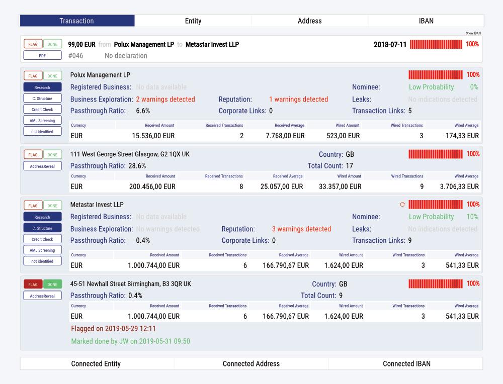 PayTracer's case management screenshot