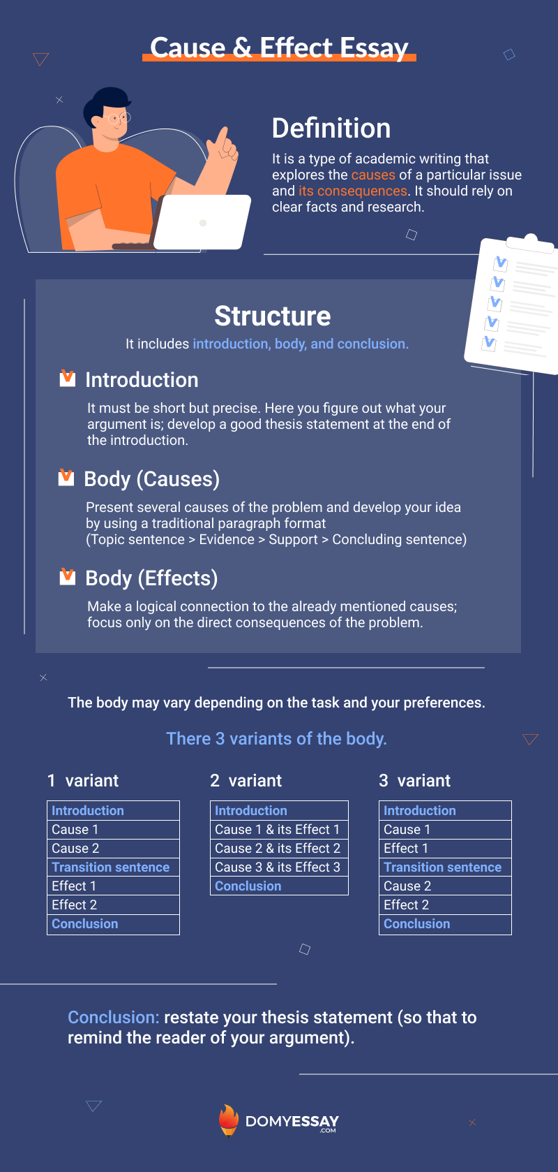 Cause and Effect Essay Infographic