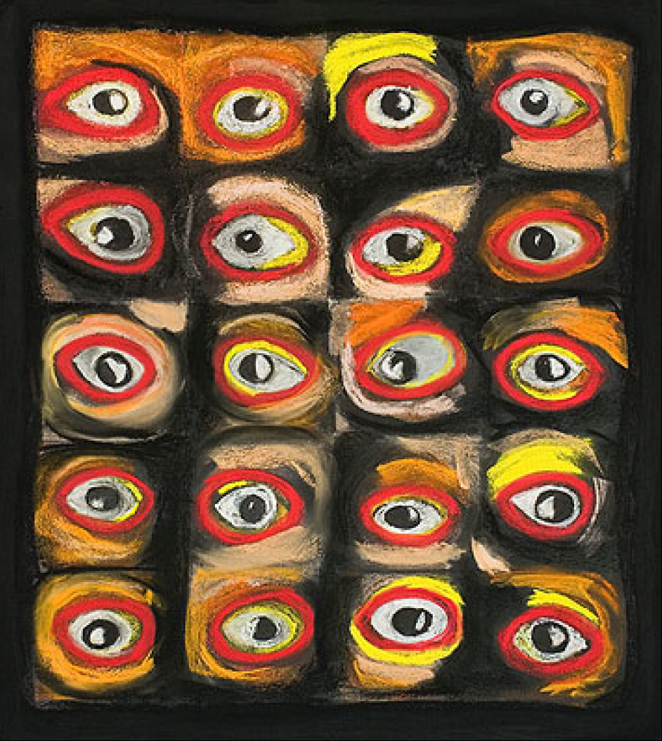 Eyes, Chalk painting