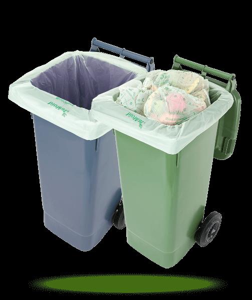 Naturabiomat Müllbeutel in Mülltonnen