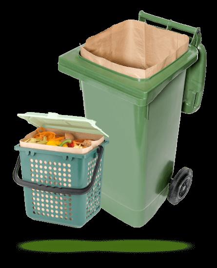 Biotonnen mit  Naturabiomat-Müllbeutel
