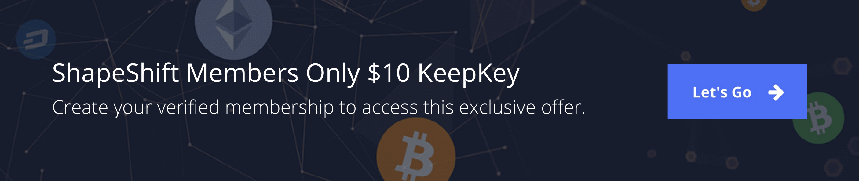 ShapeShift Members Only: Sign up to receive a KeepKey hardware wallet for only $10.