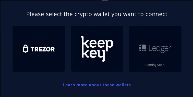 Connect the hardware wallet you already own to the new ShapeShift Platform.