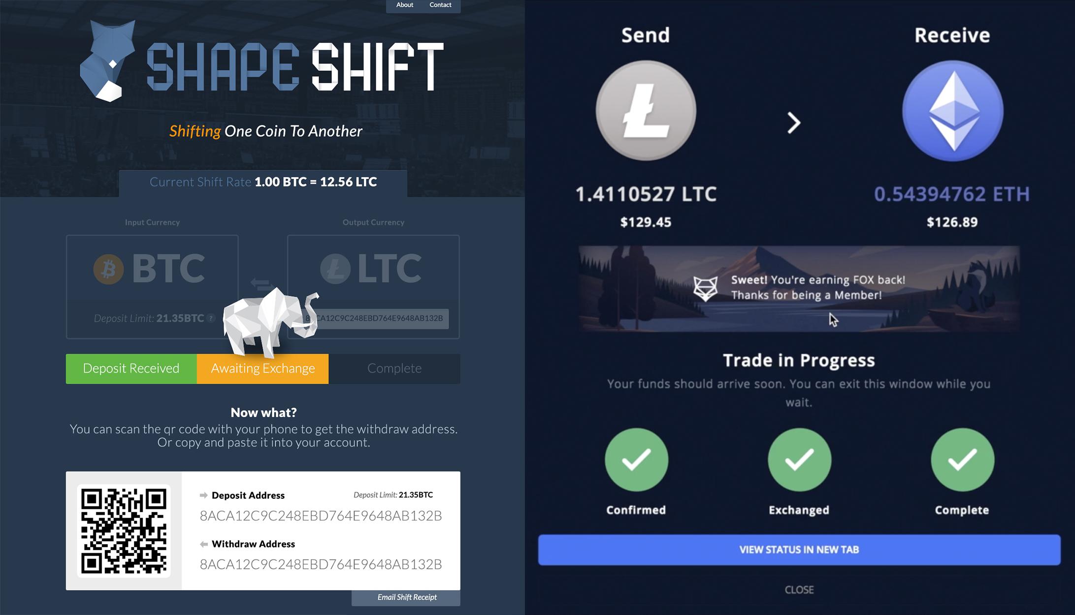 See how far we've come — Visit ShapeShift.com to try our new complete crypto management platform.