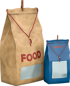 Food Photo Packshot von Links vorne