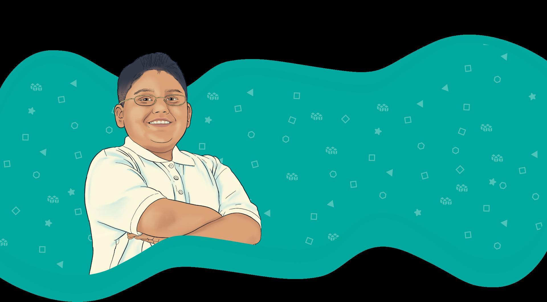 Banner image illustration of a student
