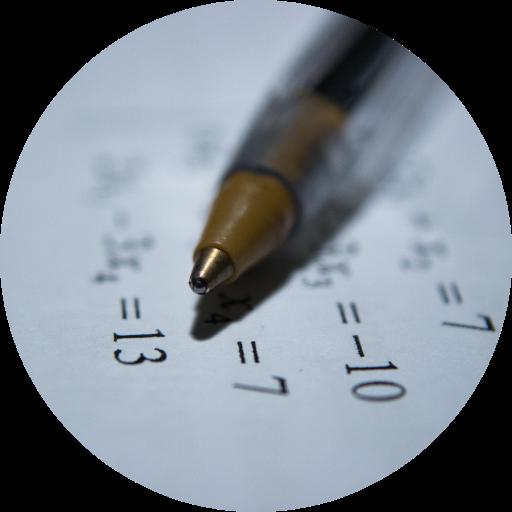photo of a pen on a math worksheet