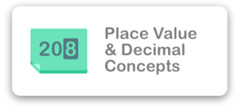 Place Value and Decimal Concepts Icon