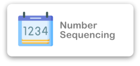 Number Sequencing Icon
