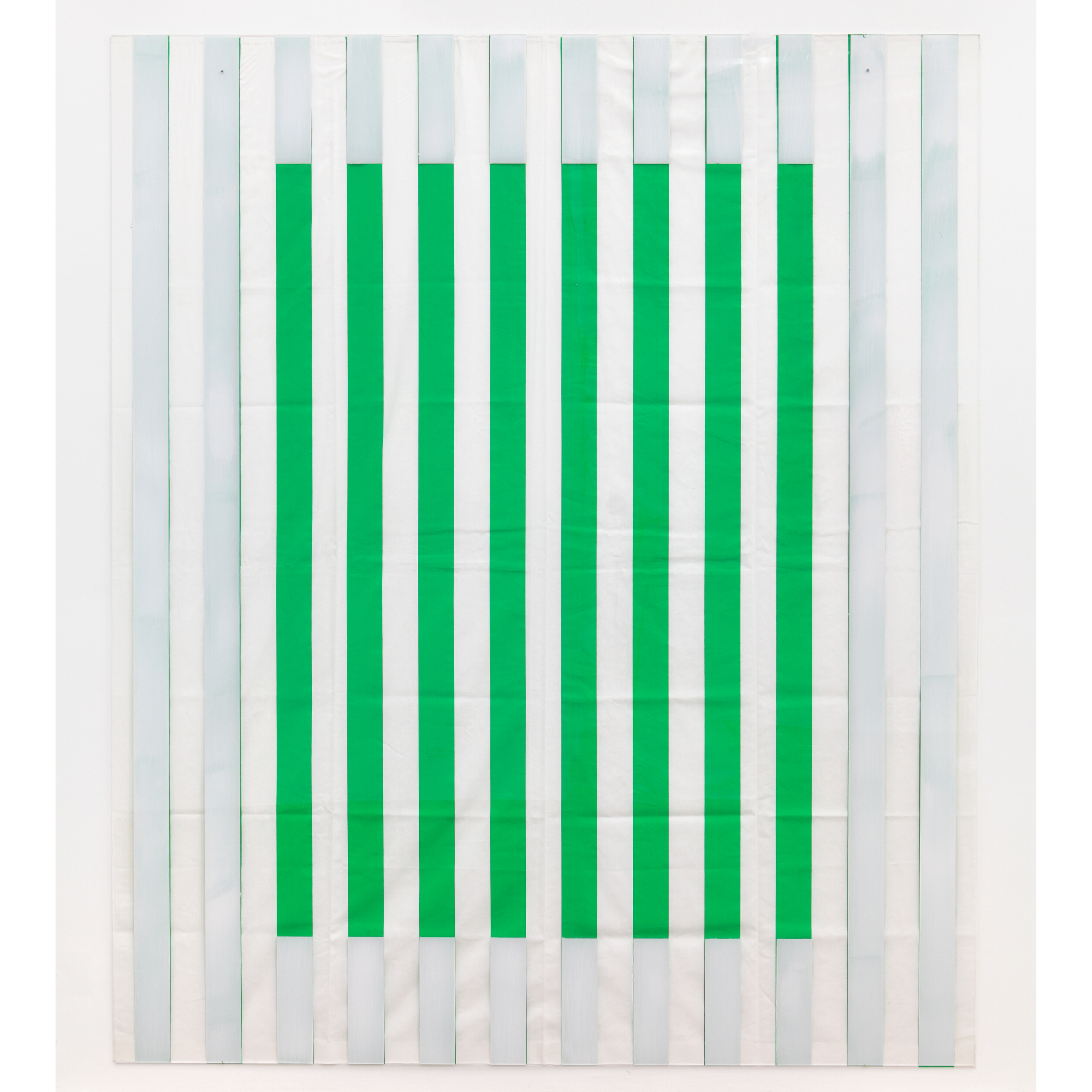 Photo Souvenir: Paint On/Under Plexiglas on Serigraphy, Framing No. 1 Green, Situated Work