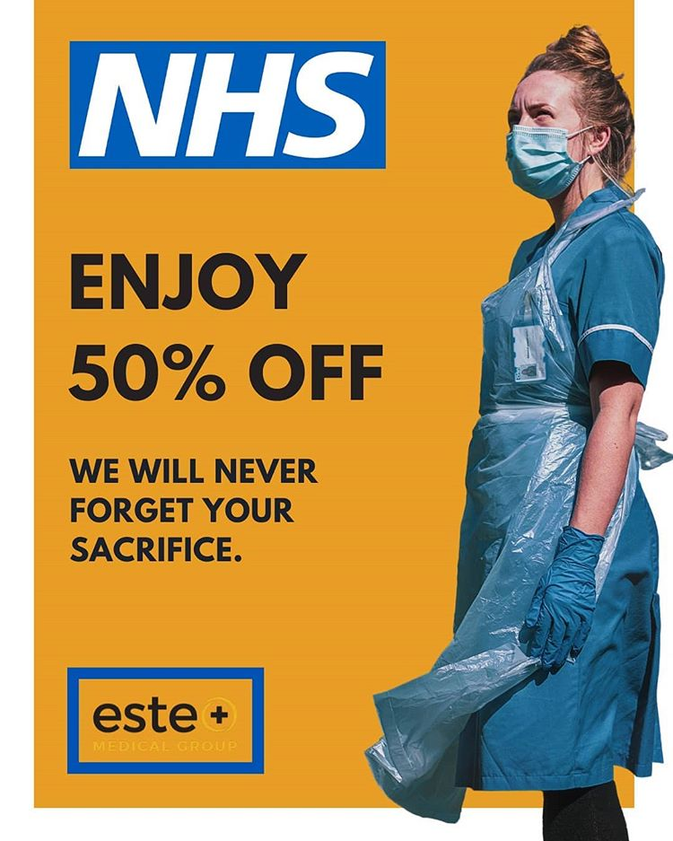 NHS Enjoy 50% off!