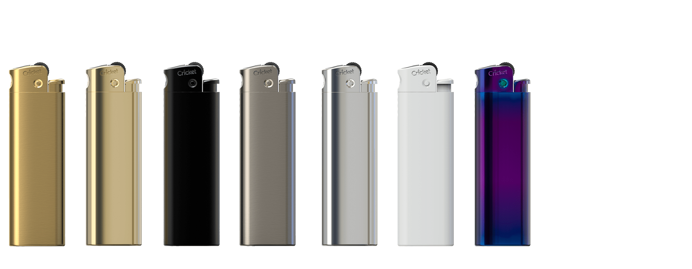 The flint deluxe lighter. A reliable metal gas lighter. This high quality lighter is refillable and reflintable and comes in a tin case with a two years warranty.
