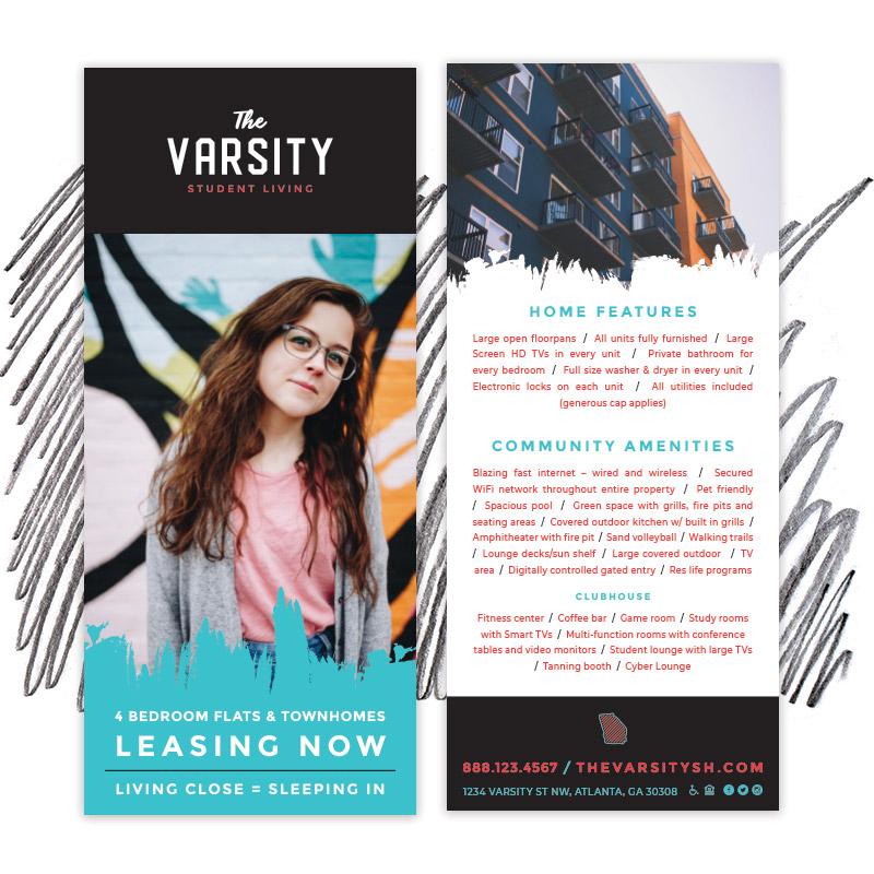 Varsity Rack Card