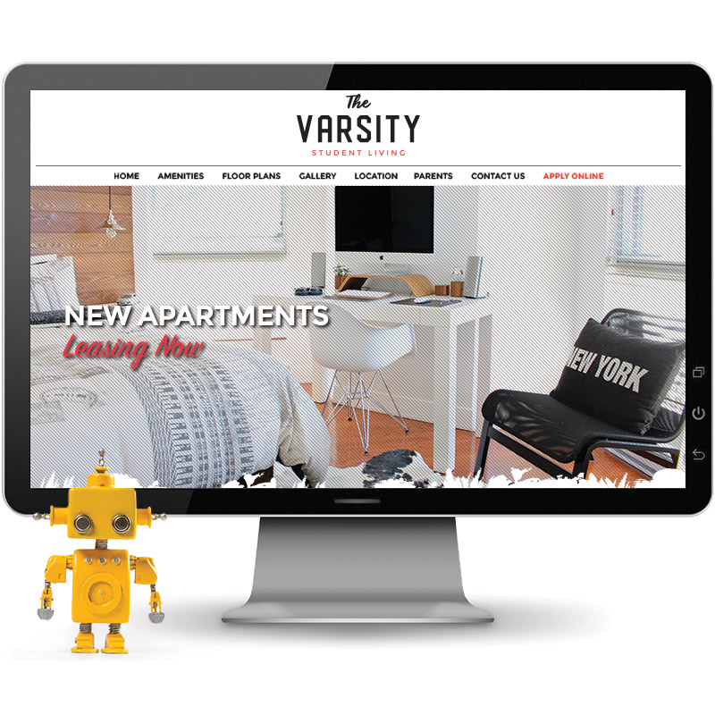 Varsity Website on Desktop