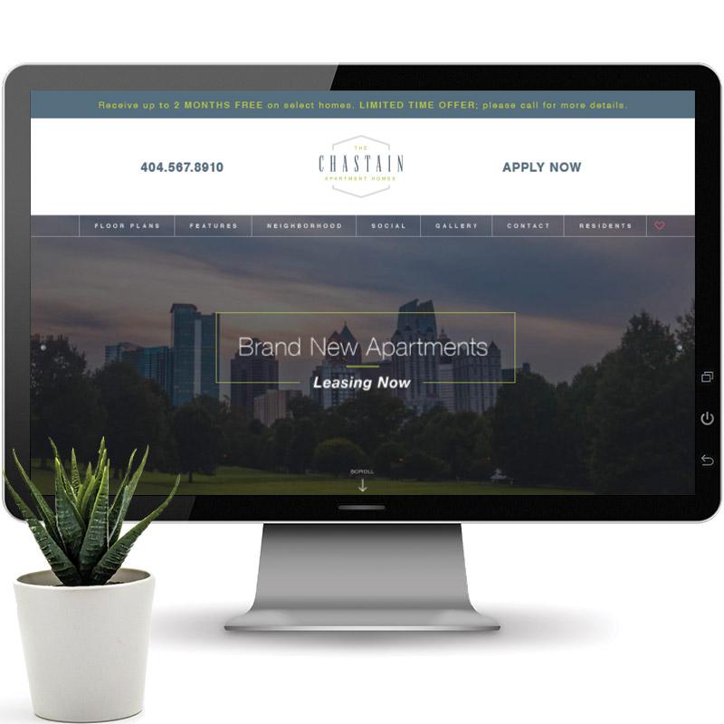 Chastain Website on Desktop