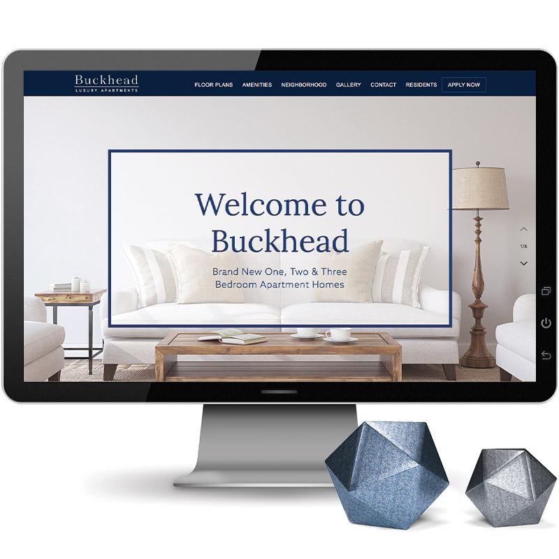 Buckhead Theme Website on Desktop