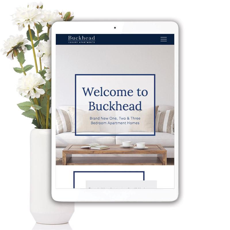 Buckhead Theme Website on Tablet