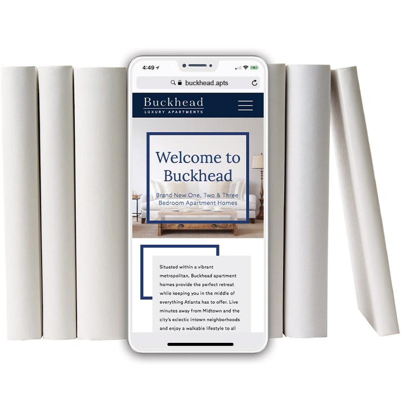 Buckhead Theme Website on Mobile