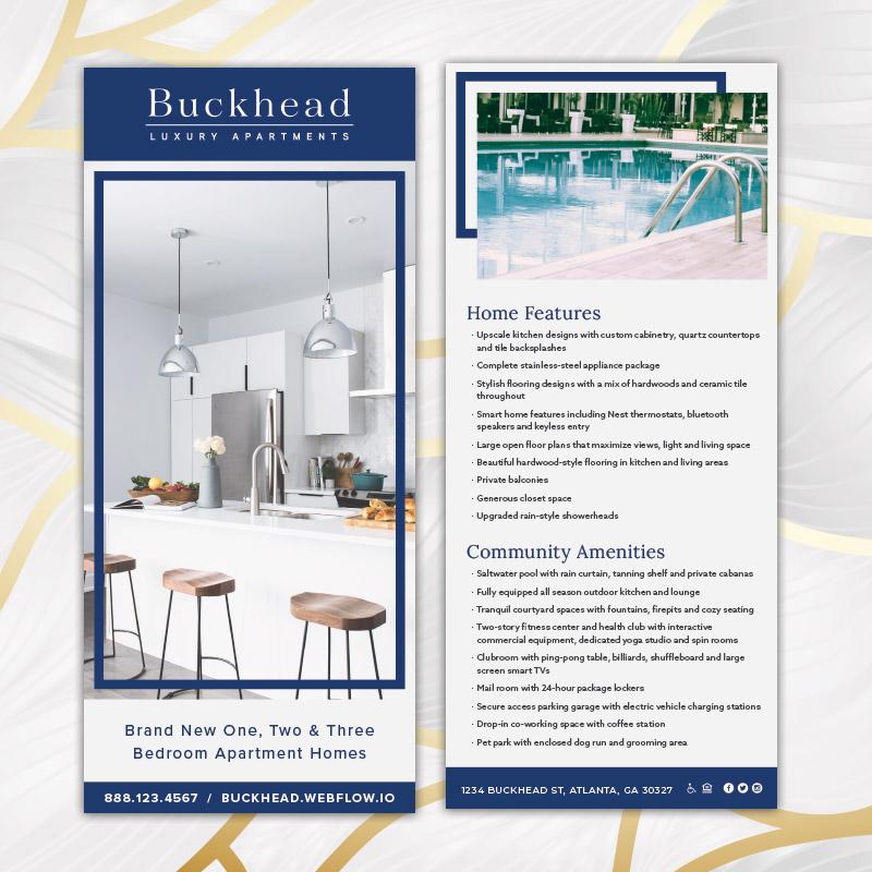 Buckhead Theme Rack Card