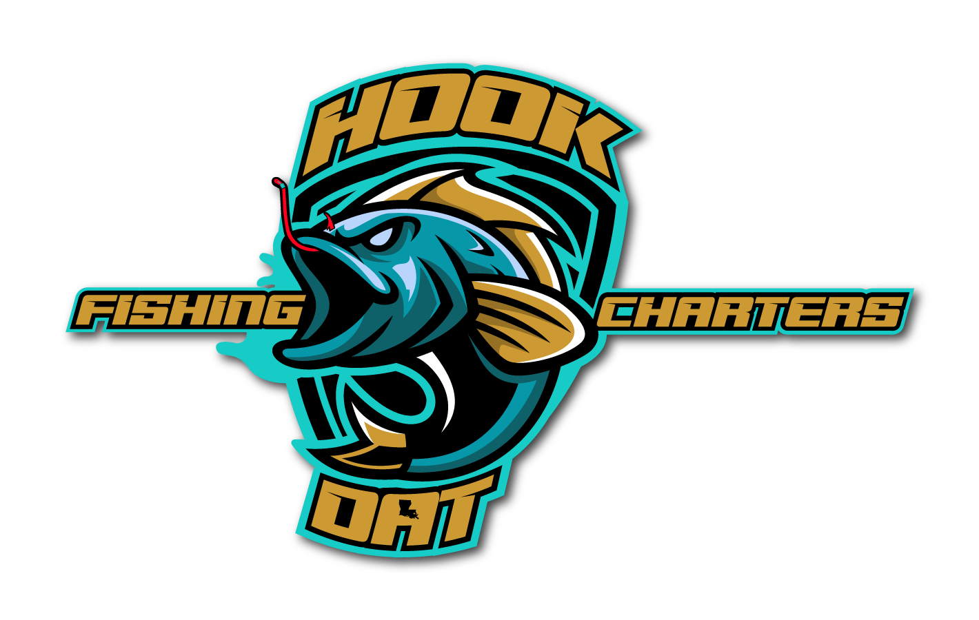 Hook Dat Fishing Charters logo