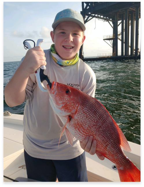 snapper fishing the rigs