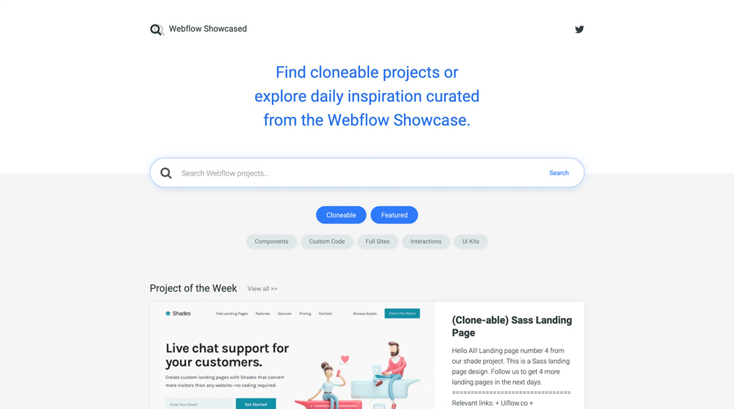 Webflow Showcased
