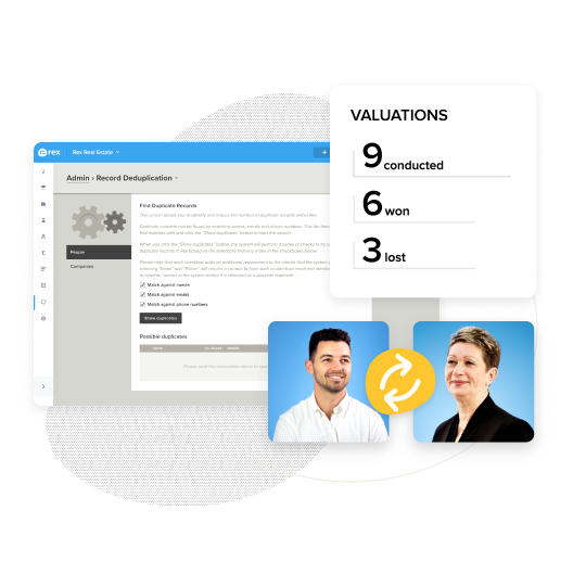 Transfer ownership, view your agents progress and avoid record duplication