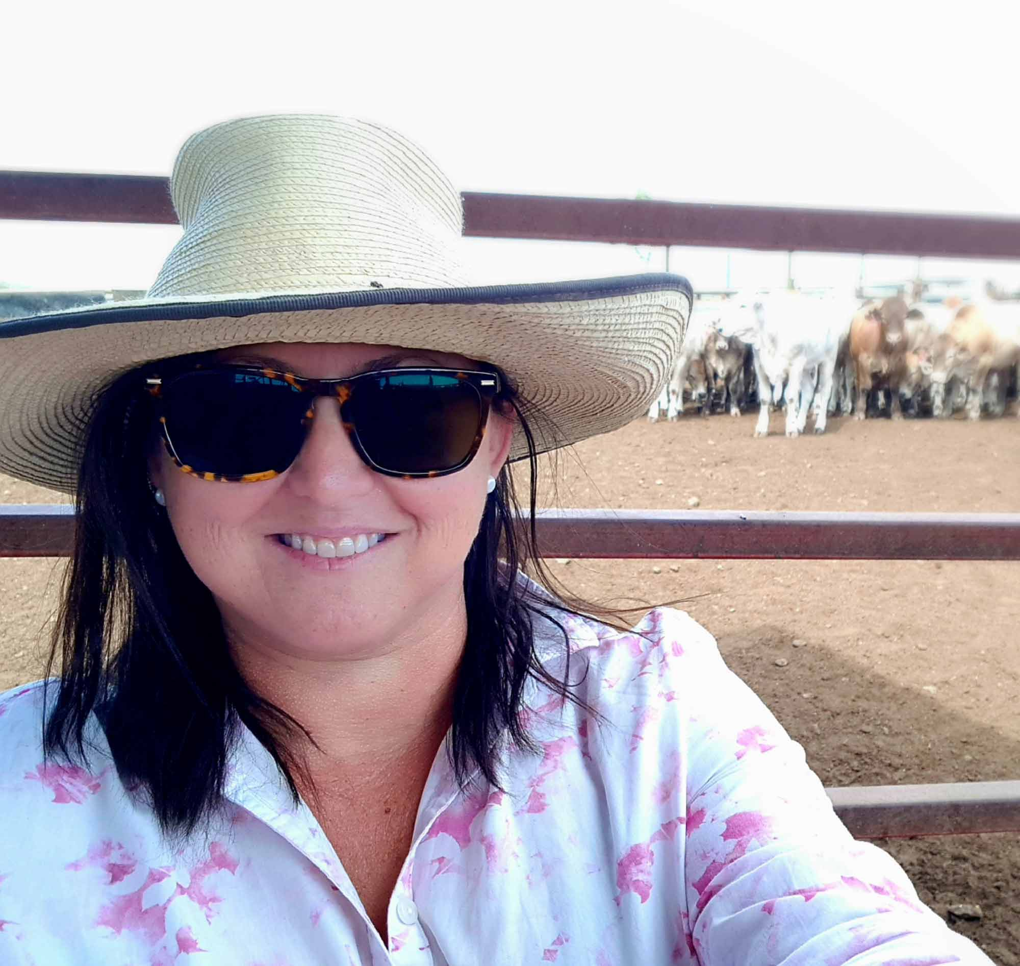 Portrait of founder Sonya Popowycz Comiskey at feedlot