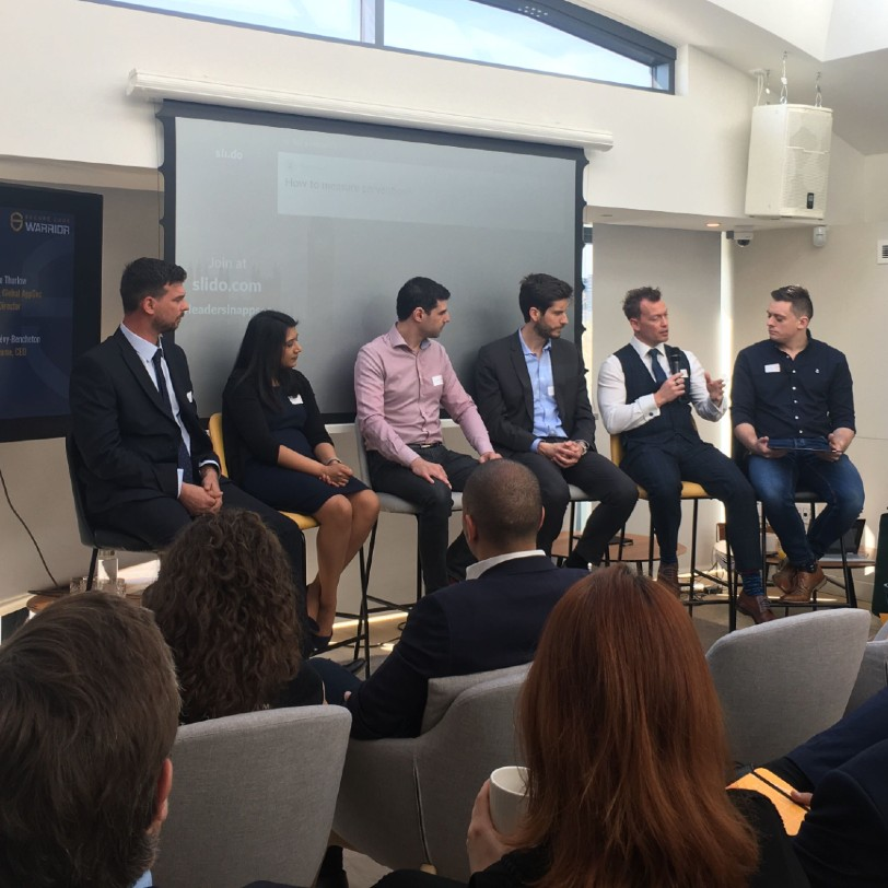 Panel discussion at Crowd at Leaders in AppSec event.