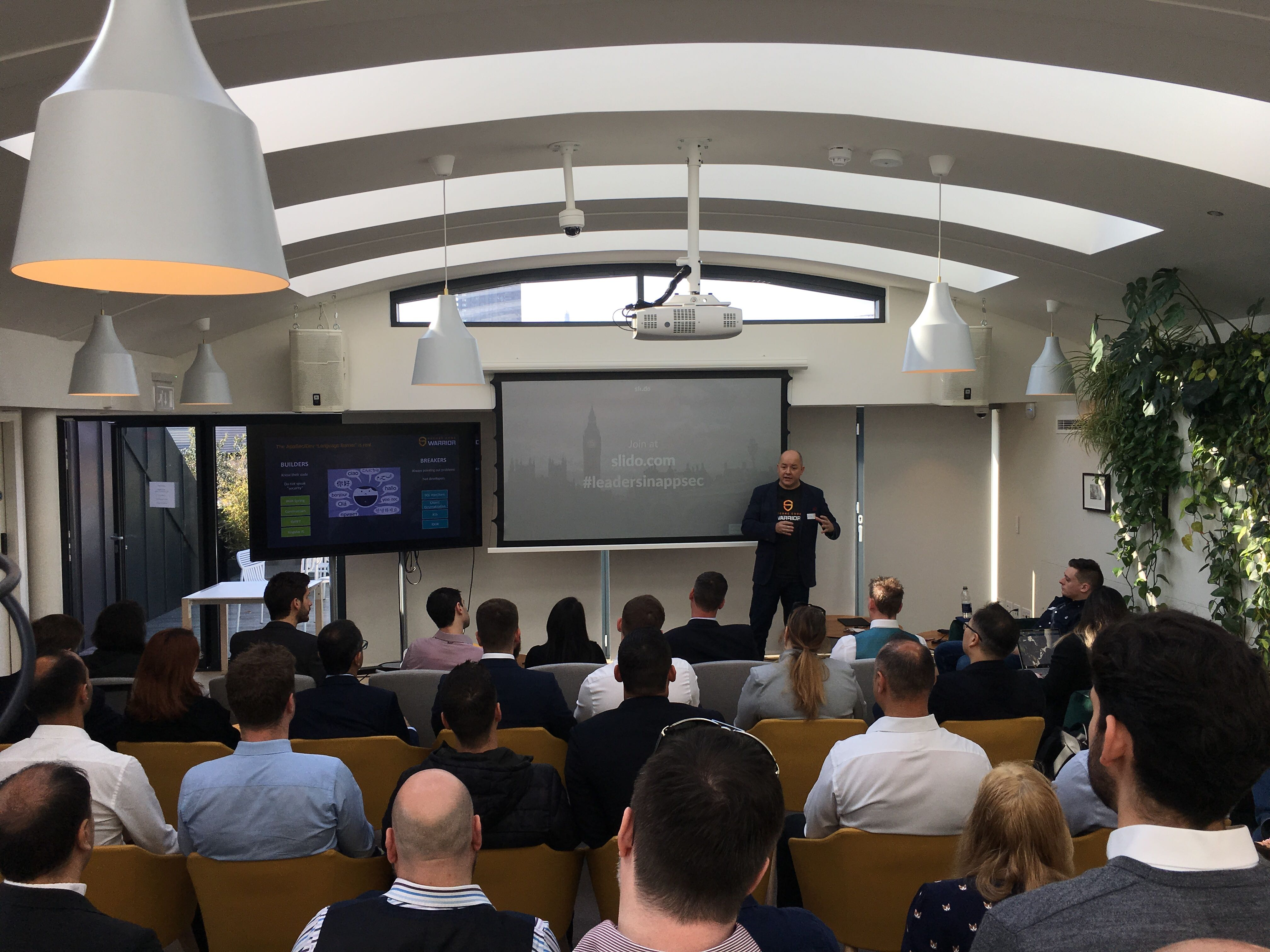 Presentation at a Crowd at Leaders in AppSec event.
