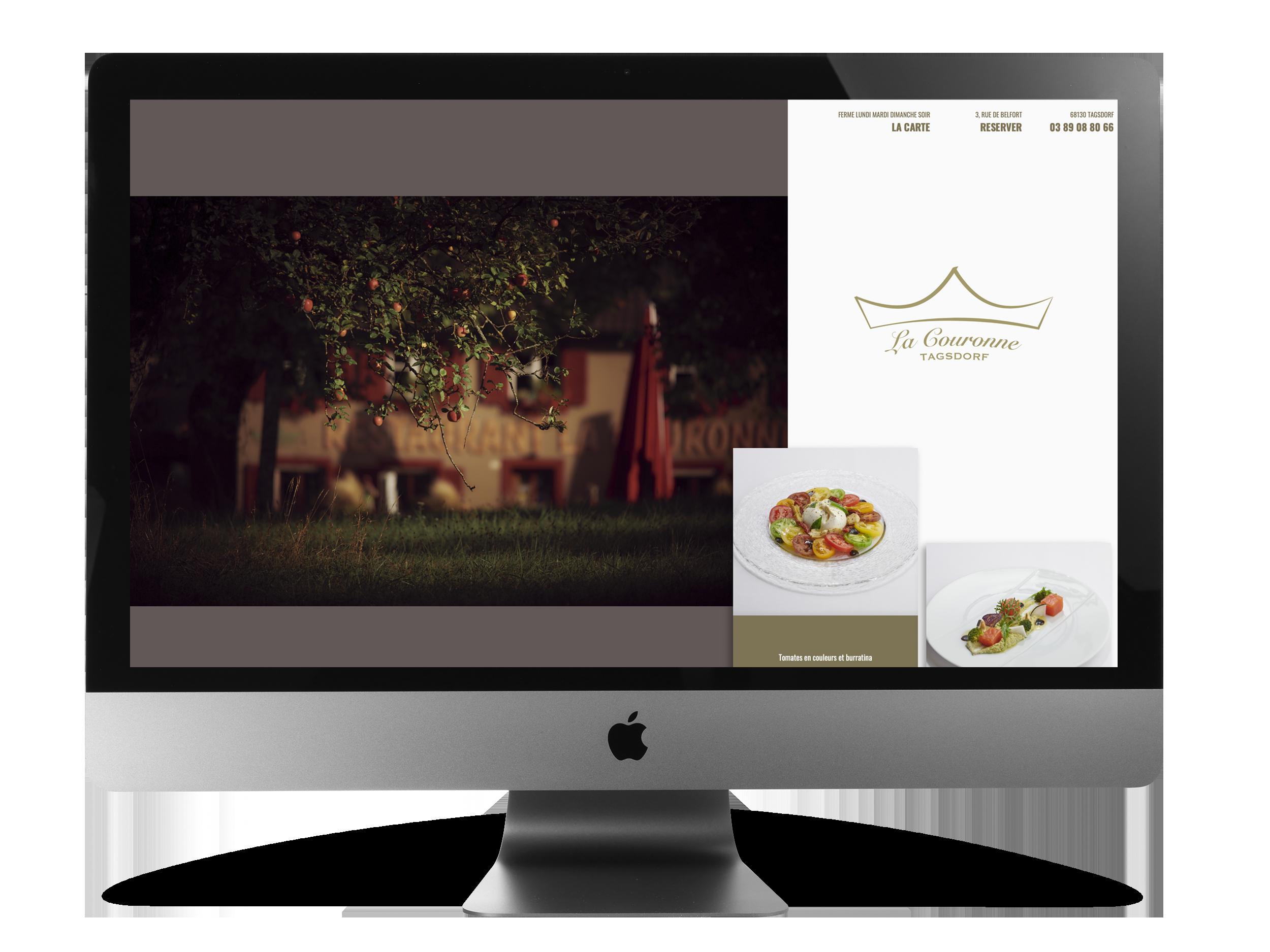 Création de site web pour restaurant Philippe Hahn