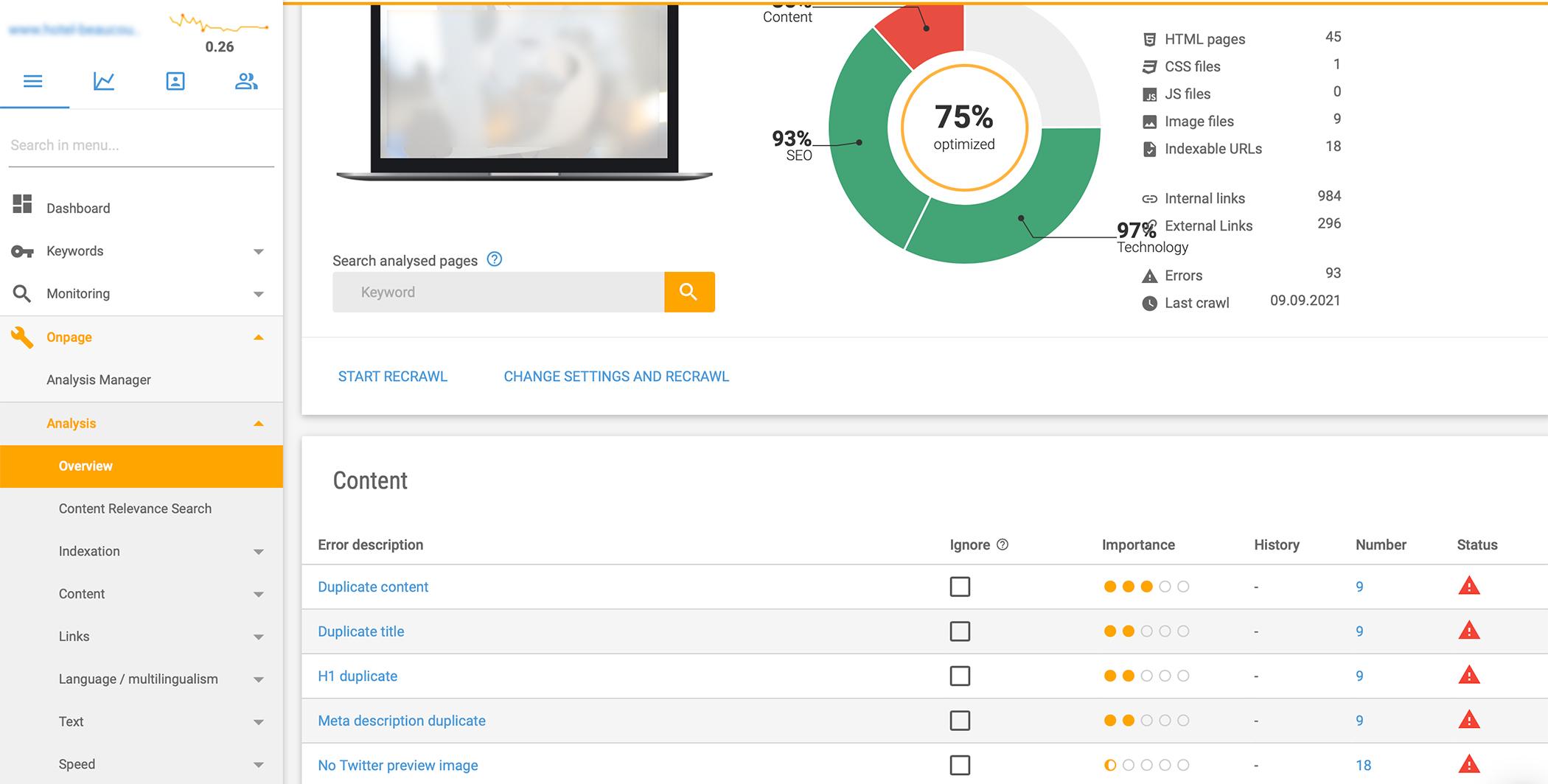 audit de site web pour hotels, référencement de site internet hotellerie