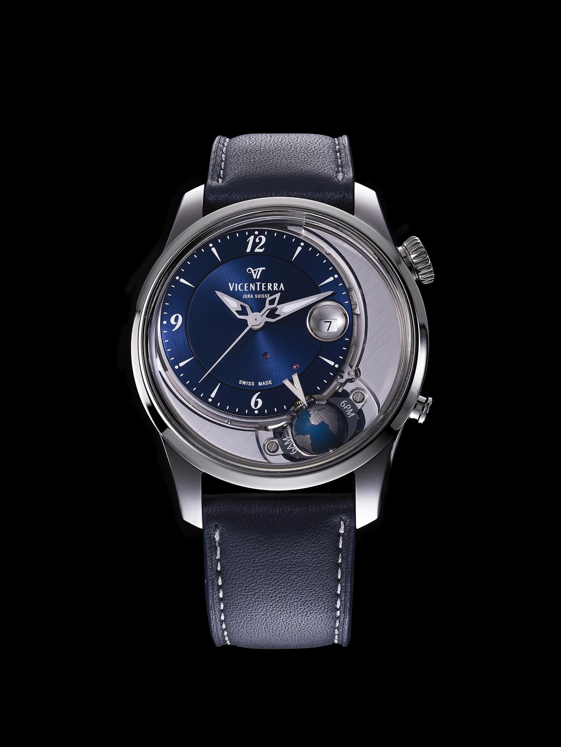 photographe de montres suisse, philippe hahn a réalisé plusieurs images en studio de la montre tycho brahe de la marque vicenterra basé dans le jura suisse