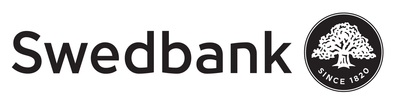 Swedbank logotyp svartvit