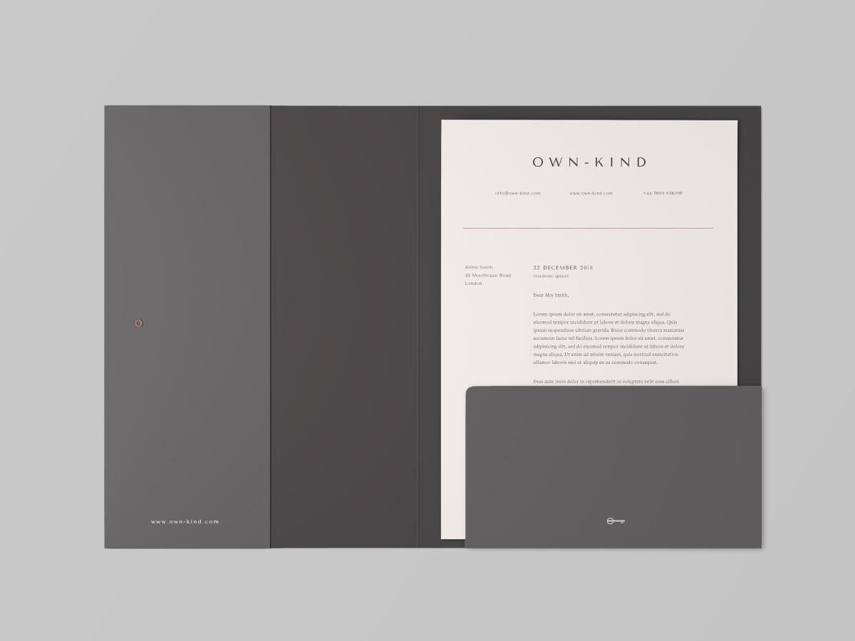 Own-Kind stationary folder