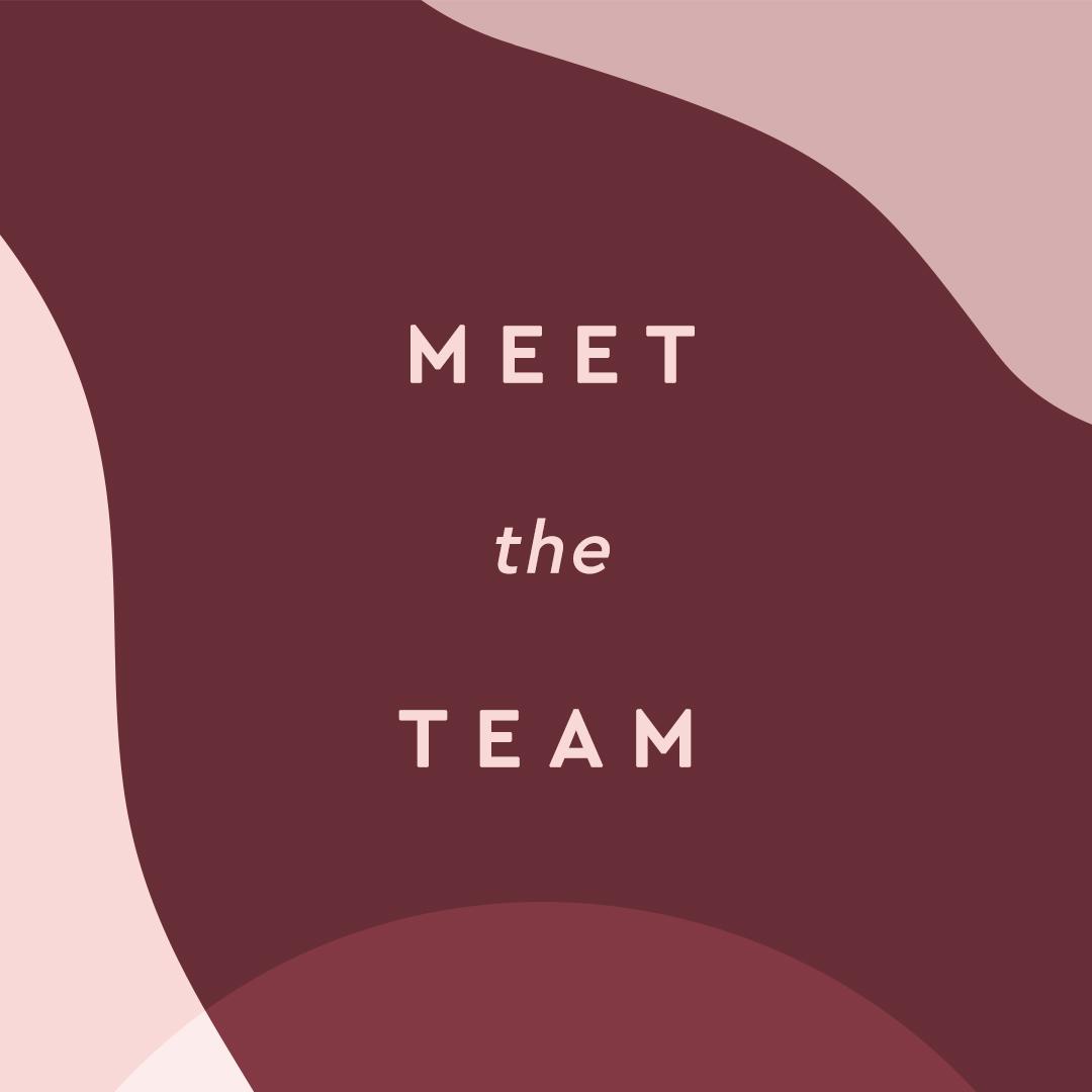 meet the team, social post