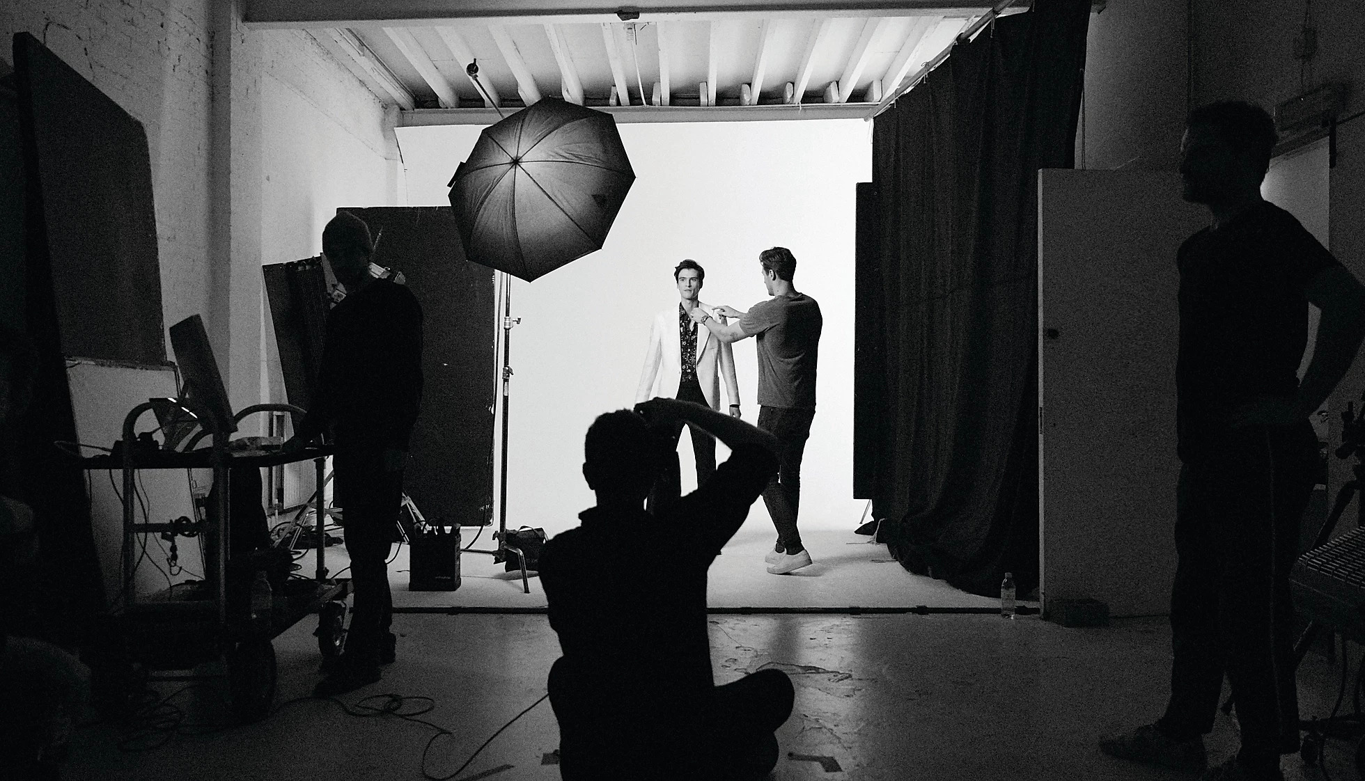 Behind the scenes of a Reiss studio photoshoot