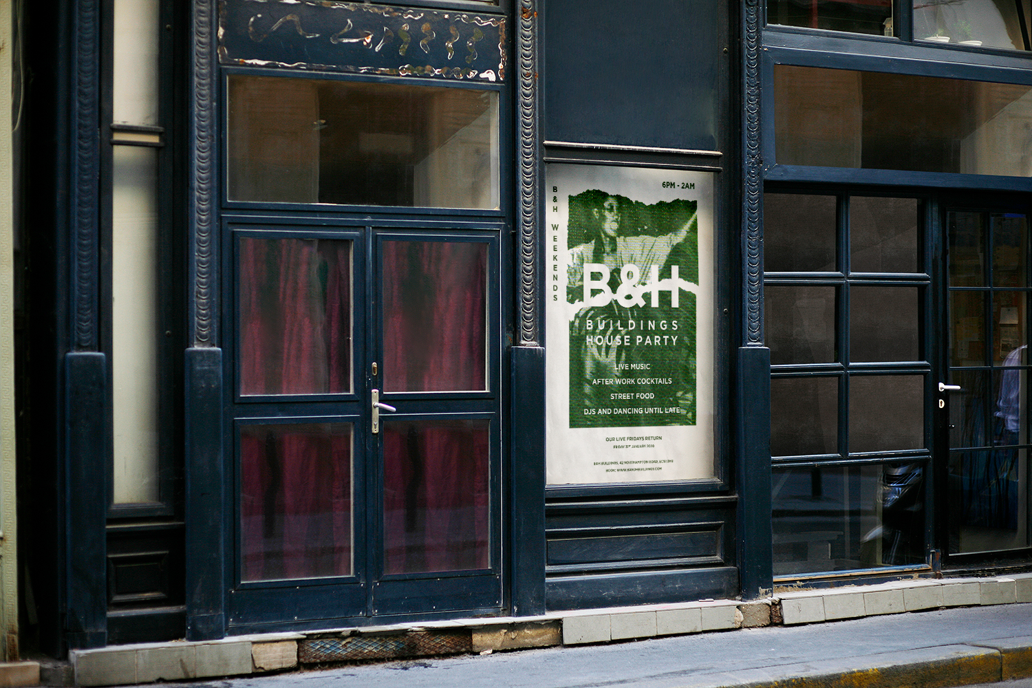 B&H Poster in the street