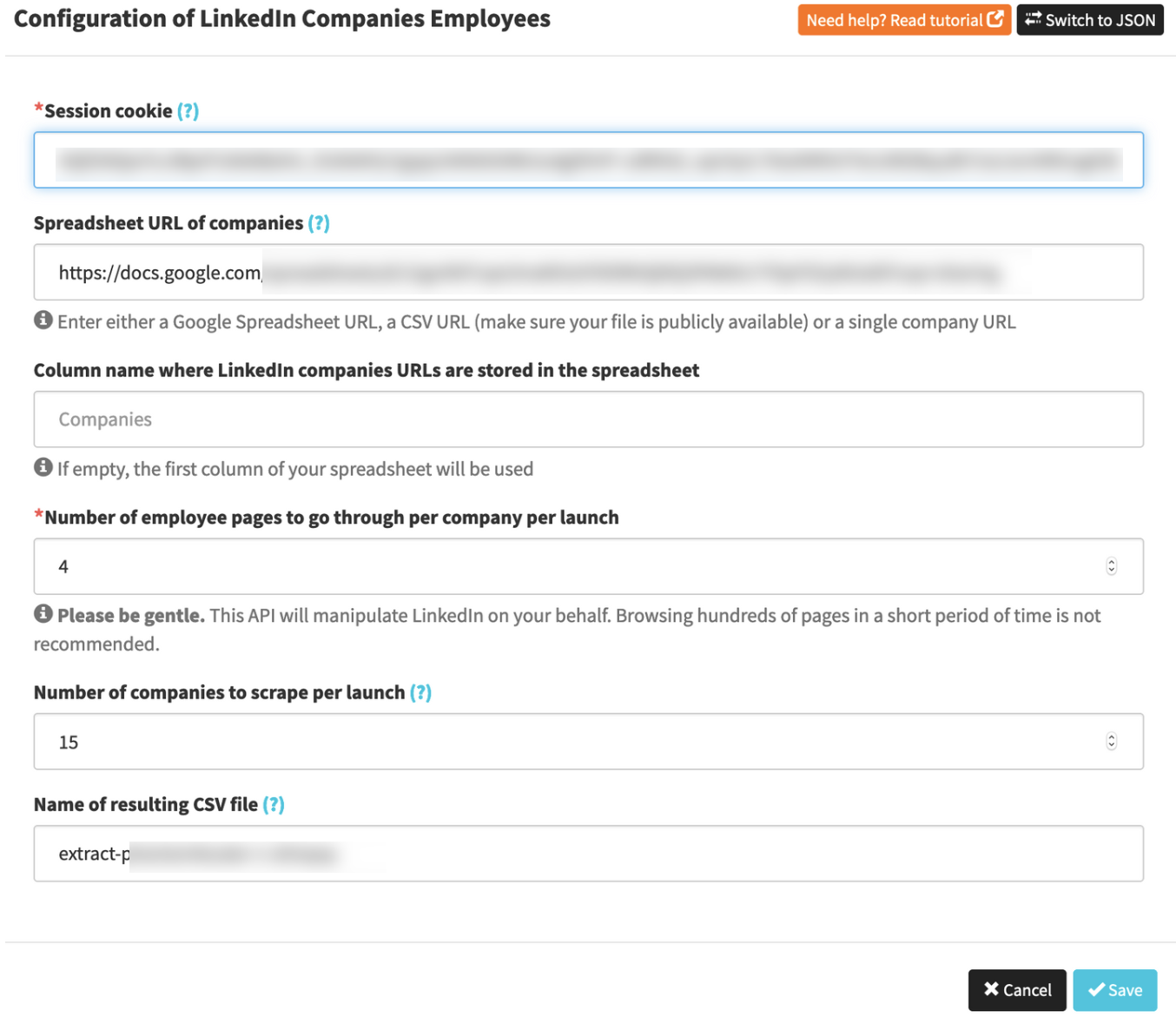 How to automatically extract Employees List from Linkedin