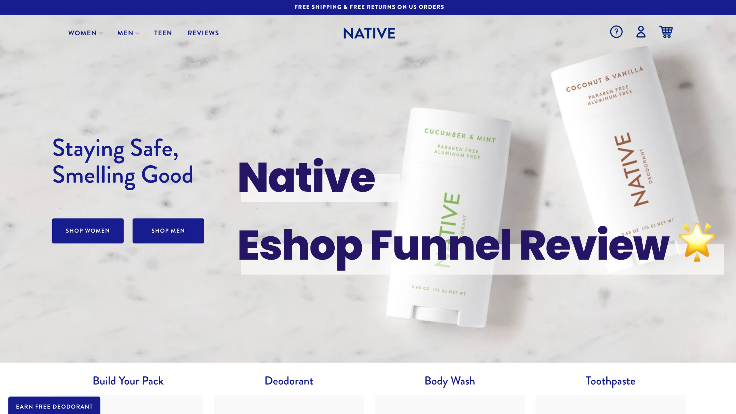 Analyse de funnel / Native : Reviews, referral & upsell