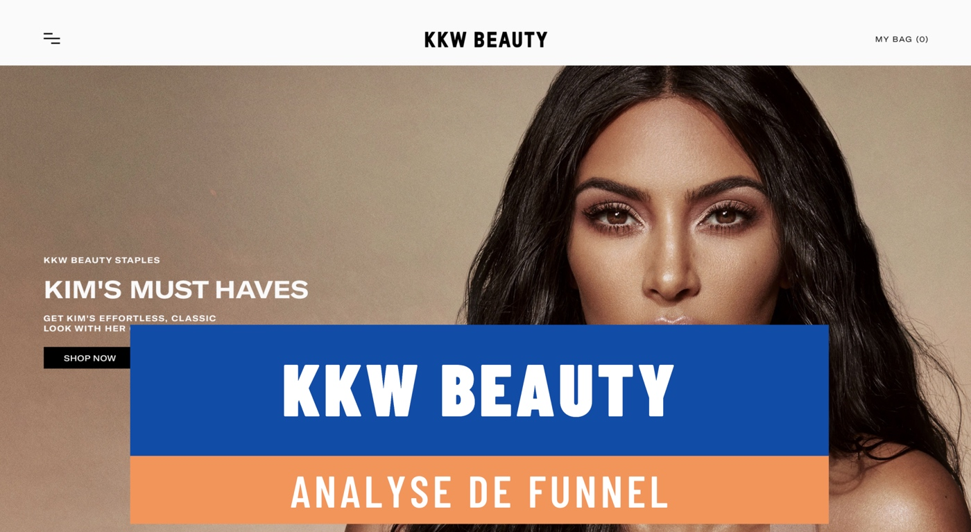 Analyse de funnel / KKW Beauty
