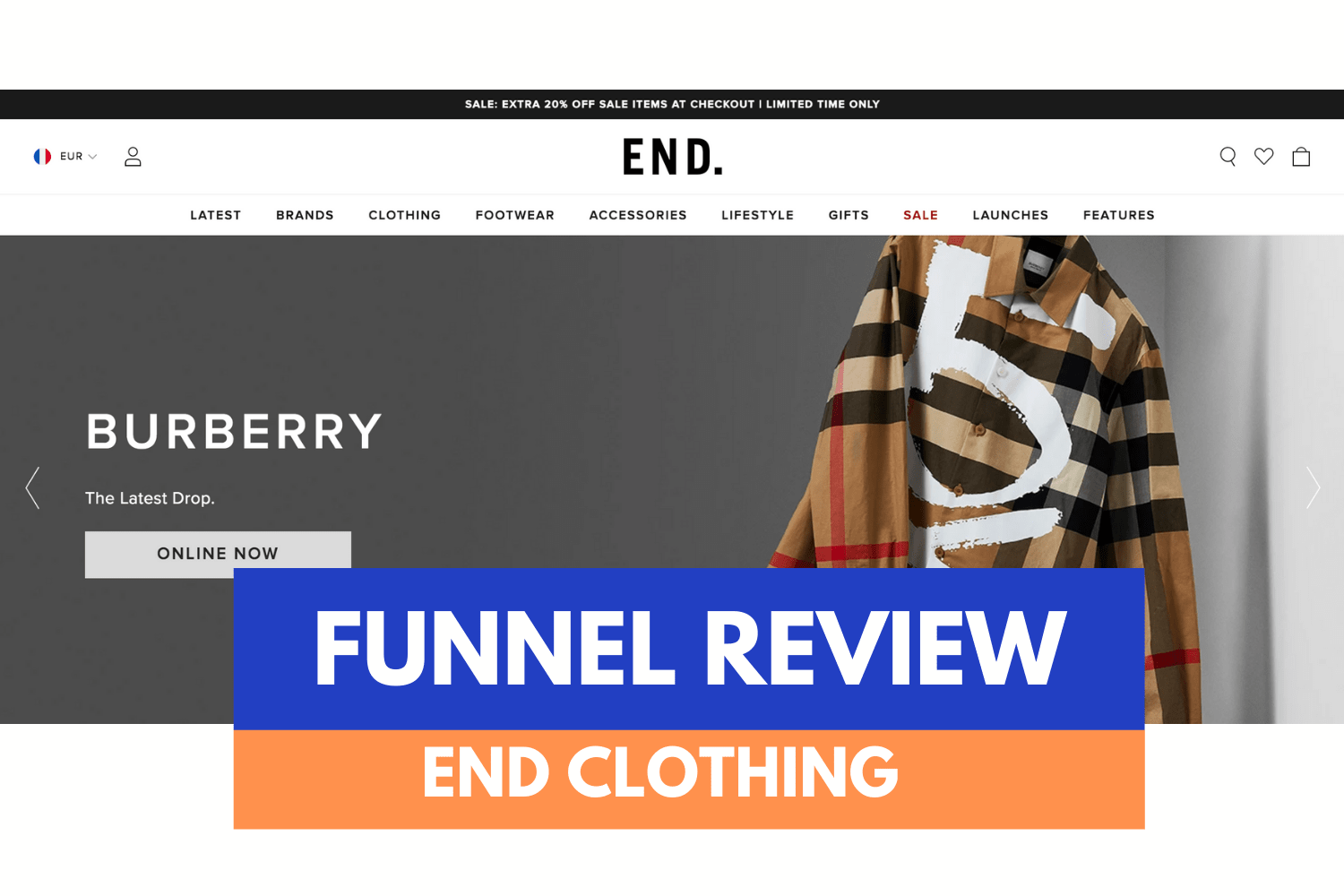 Analyse de Funnel / END. Clothing