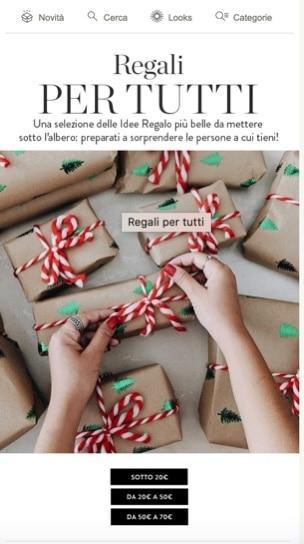 Newsletter Natale - Esempio