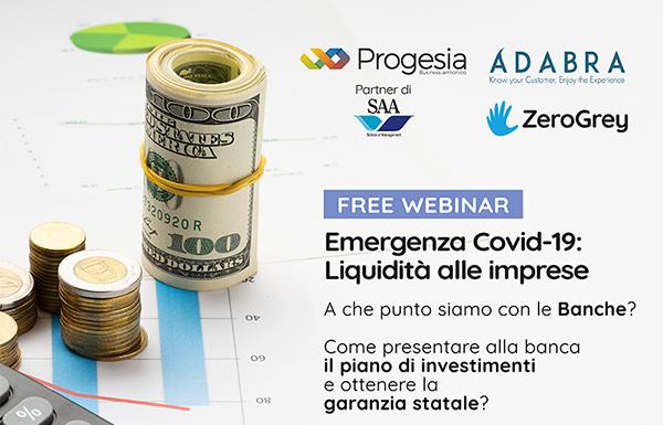 Adabra tra le aziende promotrice di un webinar sul Decreto Liquidità.