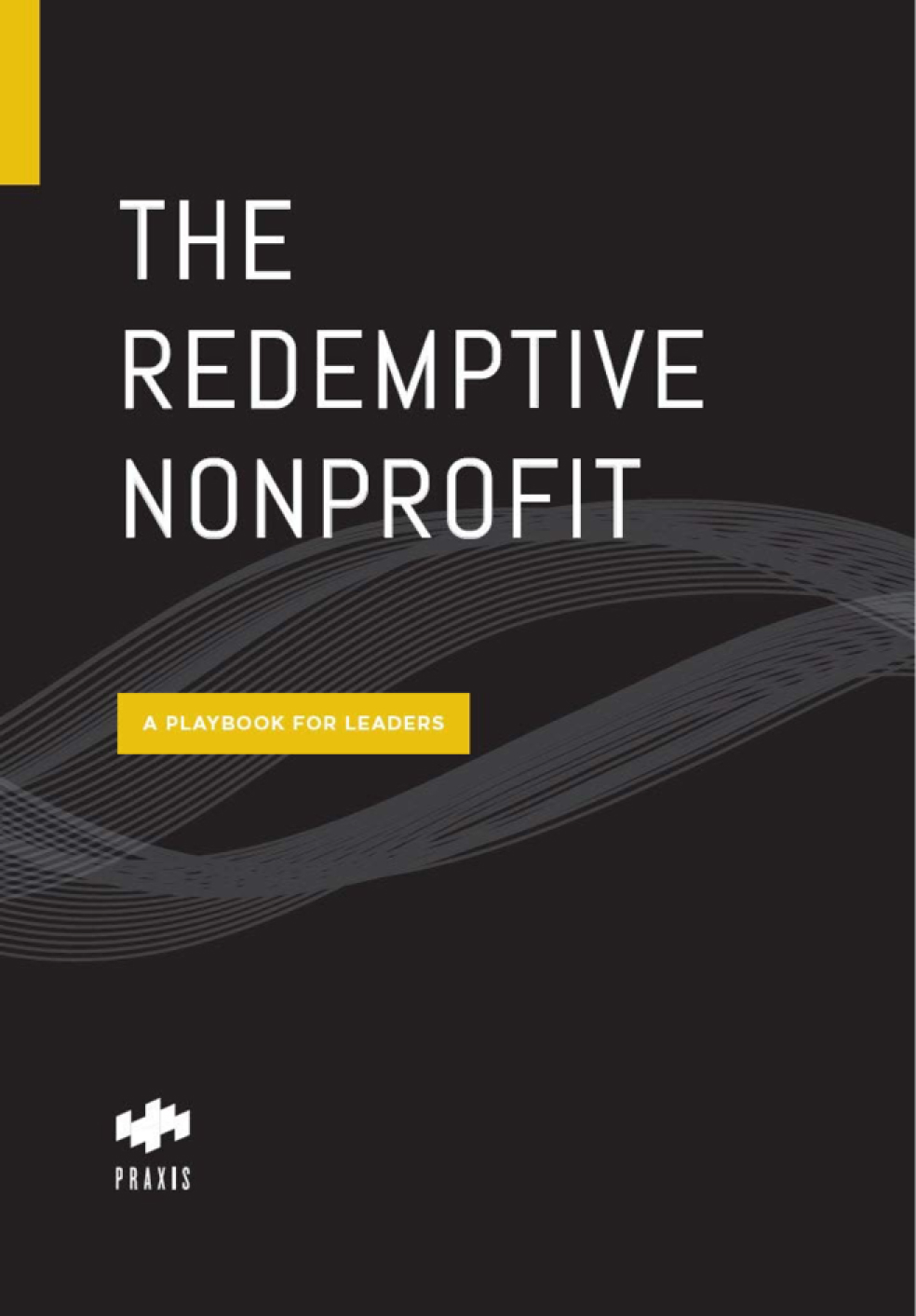 "A mockup of the book cover for ""The Redemptive Nonprofit"""
